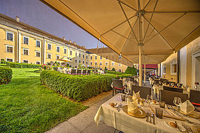 Schlossgarten im Schlosshotel Mondsee