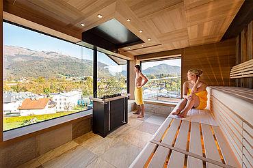 Skyline Panorama Sauna, (c) Eurothermen Resort